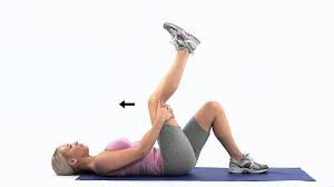 picture of a woman performing a hamstring stretch