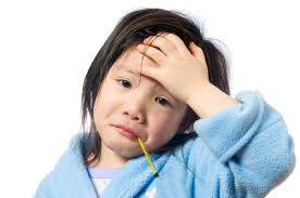 picture of a child with a fever